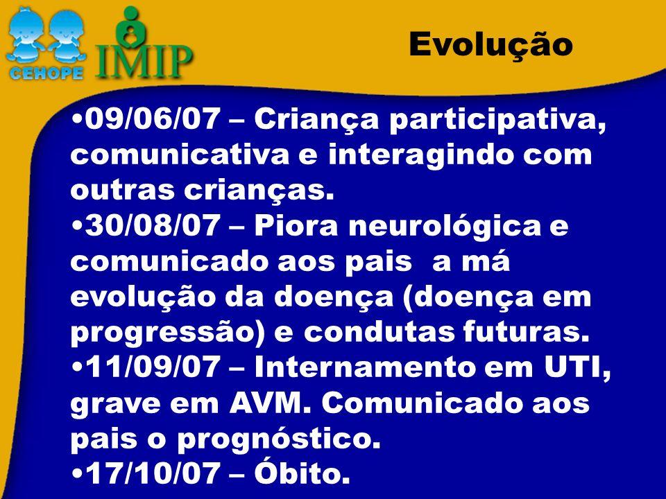 09/06/07 – Criança participativa, comunicativa e interagindo com outras crianças.