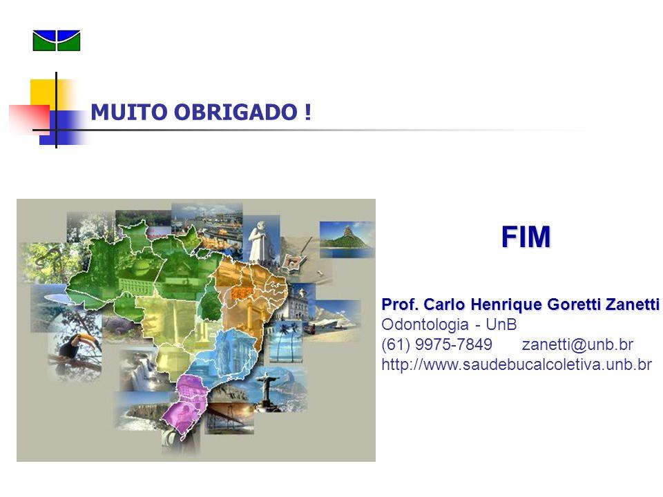 FIM Prof. Carlo Henrique Goretti Zanetti Prof. Carlo Henrique Goretti Zanetti Odontologia - UnB (61) 9975-7849 zanetti@unb.br http://www.saudebucalcol