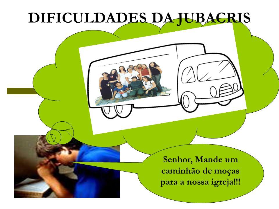 Senhor, Mande um caminhão de moças para a nossa igreja!!! DIFICULDADES DA JUBACRIS