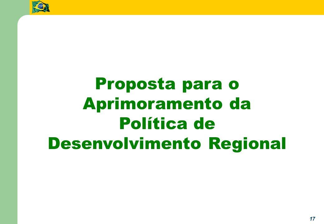 17 Proposta para o Aprimoramento da Política de Desenvolvimento Regional