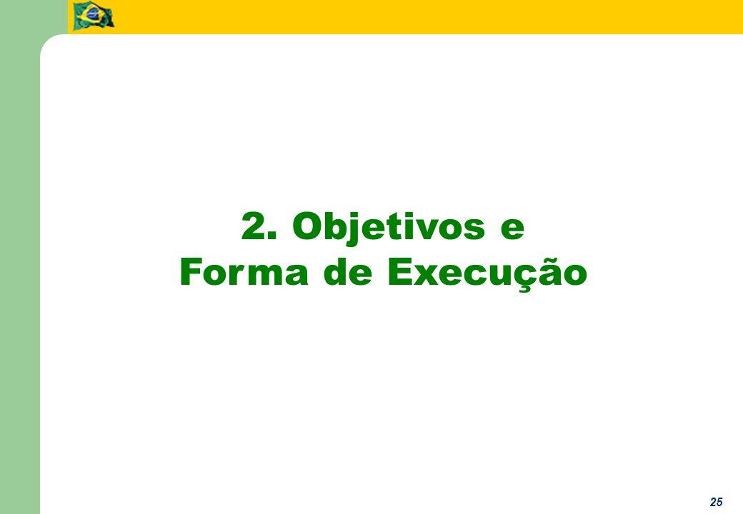 25 2. Objetivos e Forma de Execução