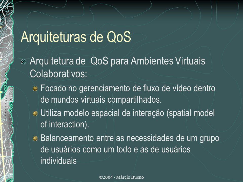 Arquiteturas de QoS Arquitetura de QoS para Ambientes Virtuais Colaborativos: Focado no gerenciamento de fluxo de vídeo dentro de mundos virtuais comp