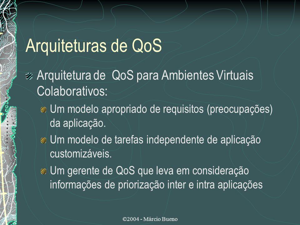©2004 - Márcio Bueno Arquiteturas de QoS Arquitetura de QoS para Ambientes Virtuais Colaborativos: Um modelo apropriado de requisitos (preocupações) d