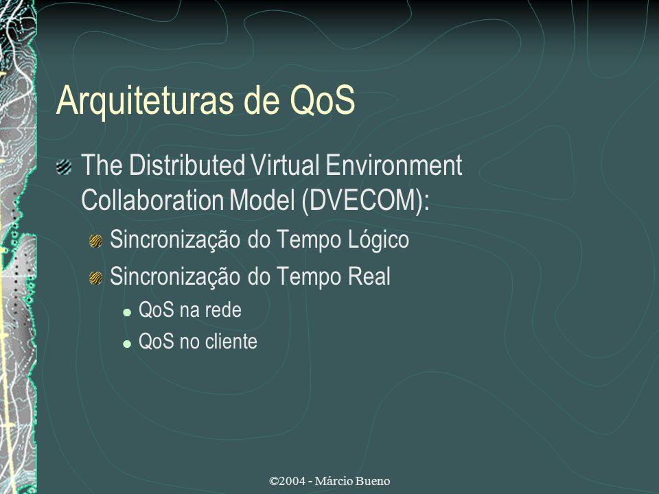 ©2004 - Márcio Bueno Arquiteturas de QoS The Distributed Virtual Environment Collaboration Model (DVECOM): Sincronização do Tempo Lógico Sincronização