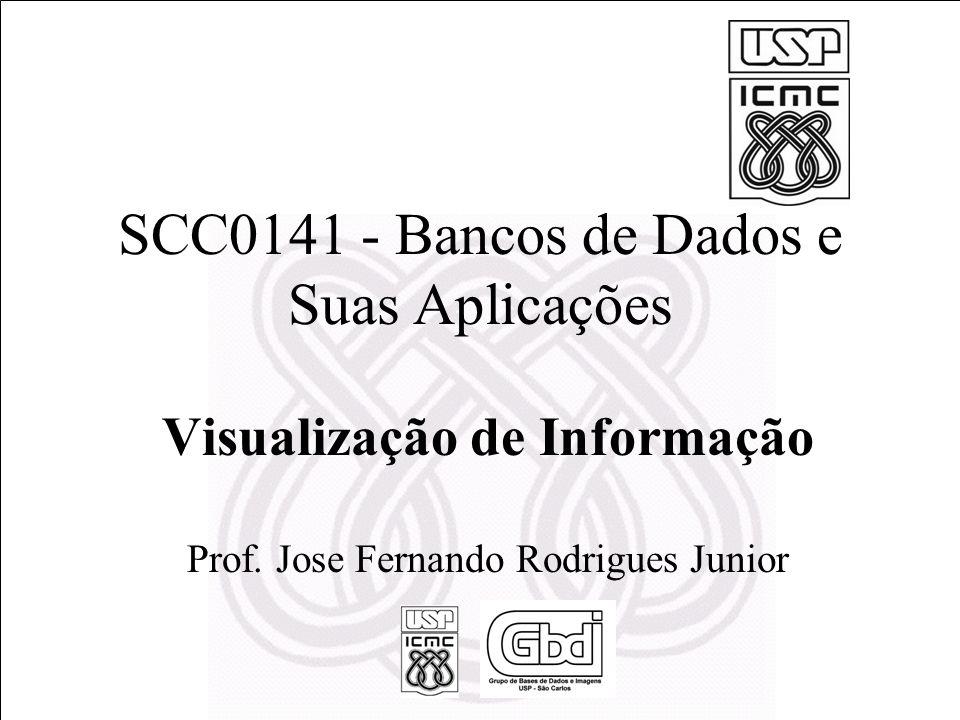 SCC0141 - Bancos de Dados e Suas Aplicações Visualização de Informação Prof. Jose Fernando Rodrigues Junior