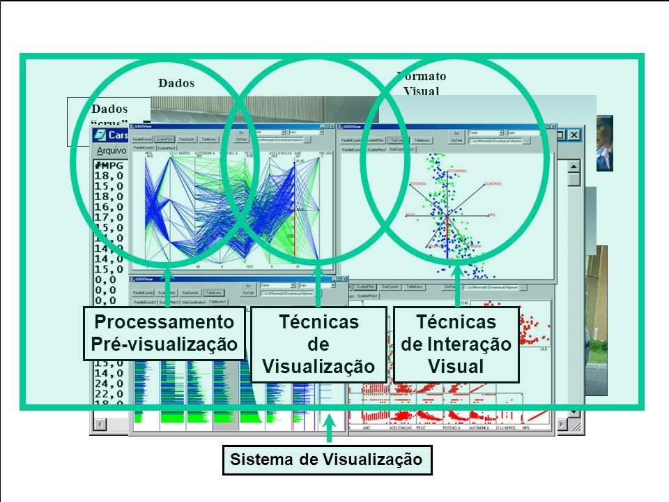 Sistematização Dados crus Dados estruturados Design Visual Visualização Transformações do Dados Mapeamento Visual Transformações Visuais Dados Formato