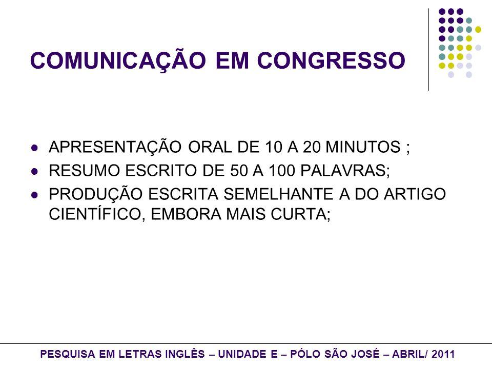 REFERÊNCIAS: TOMITCH, LÊDA M.B.; TUMOLO, CELSO S.