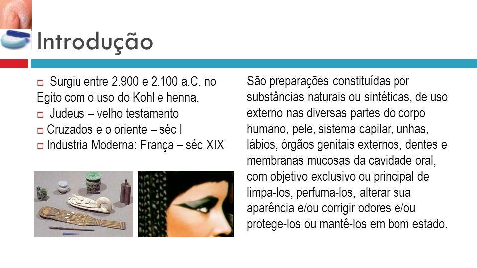 Introdução Surgiu entre 2.900 e 2.100 a.C.no Egito com o uso do Kohl e henna.