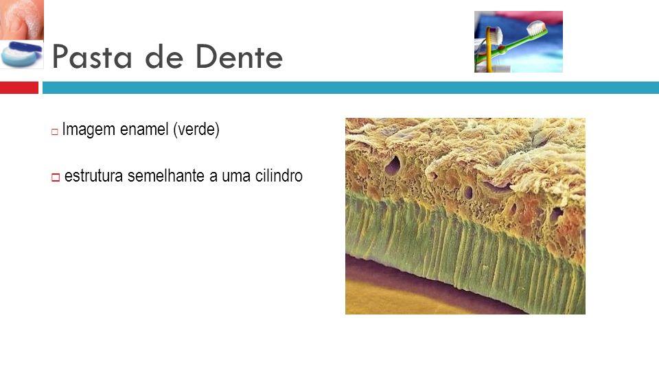 Pasta de Dente Imagem enamel (verde) estrutura semelhante a uma cilindro