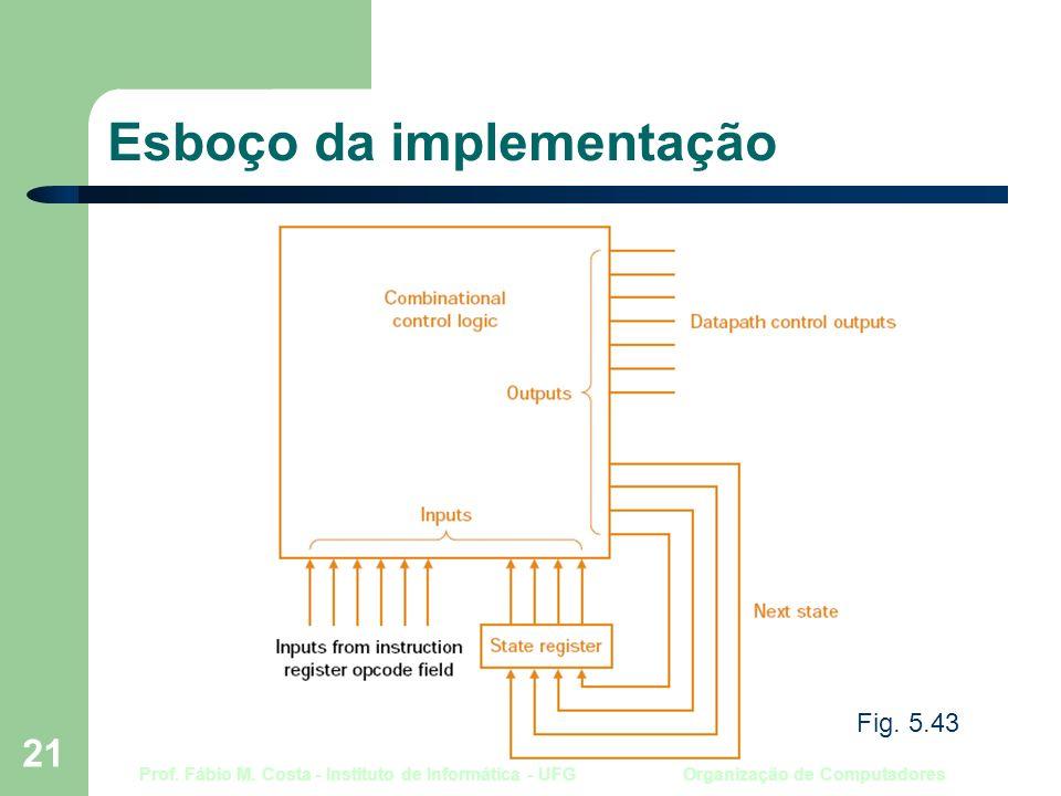 Prof. Fábio M. Costa - Instituto de Informática - UFG Organização de Computadores 21 Esboço da implementação Fig. 5.43