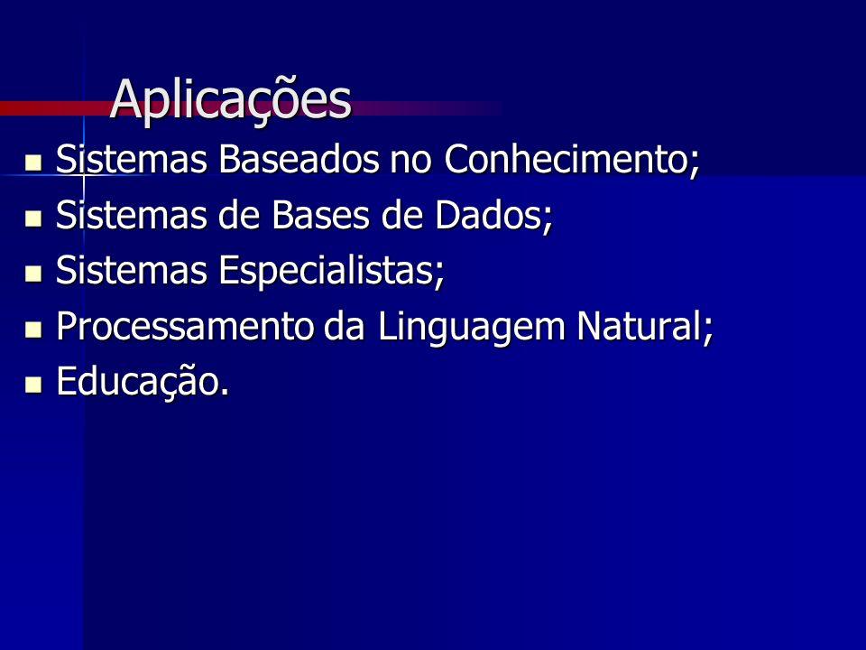 Aplicações Sistemas Baseados no Conhecimento; Sistemas Baseados no Conhecimento; Sistemas de Bases de Dados; Sistemas de Bases de Dados; Sistemas Espe