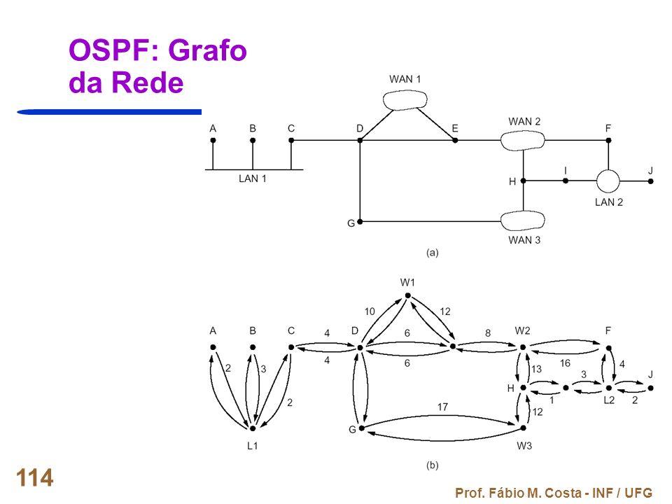 Prof. Fábio M. Costa - INF / UFG 114 OSPF: Grafo da Rede