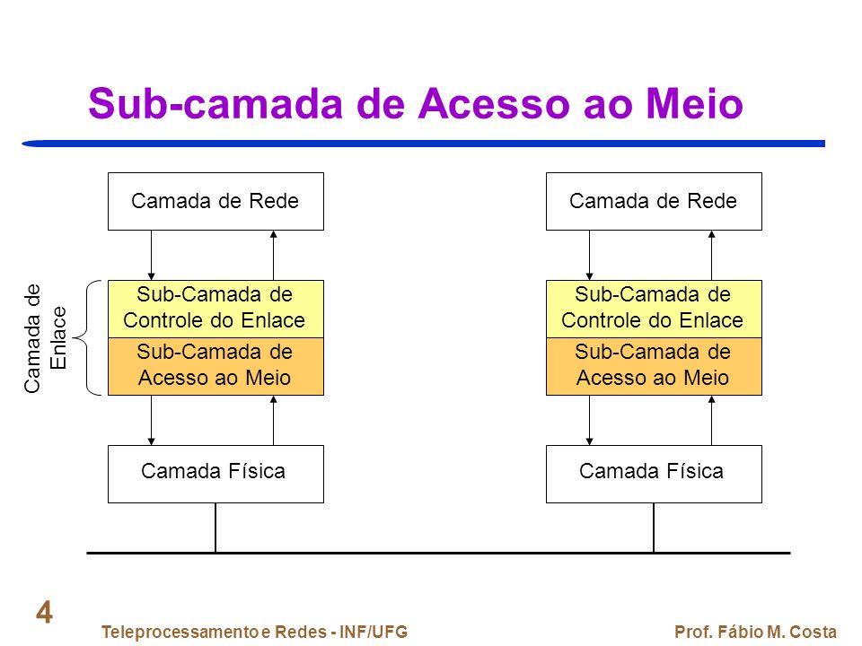 Teleprocessamento e Redes - INF/UFGProf. Fábio M. Costa 55 IEEE 802.3: Cabeamento (2)