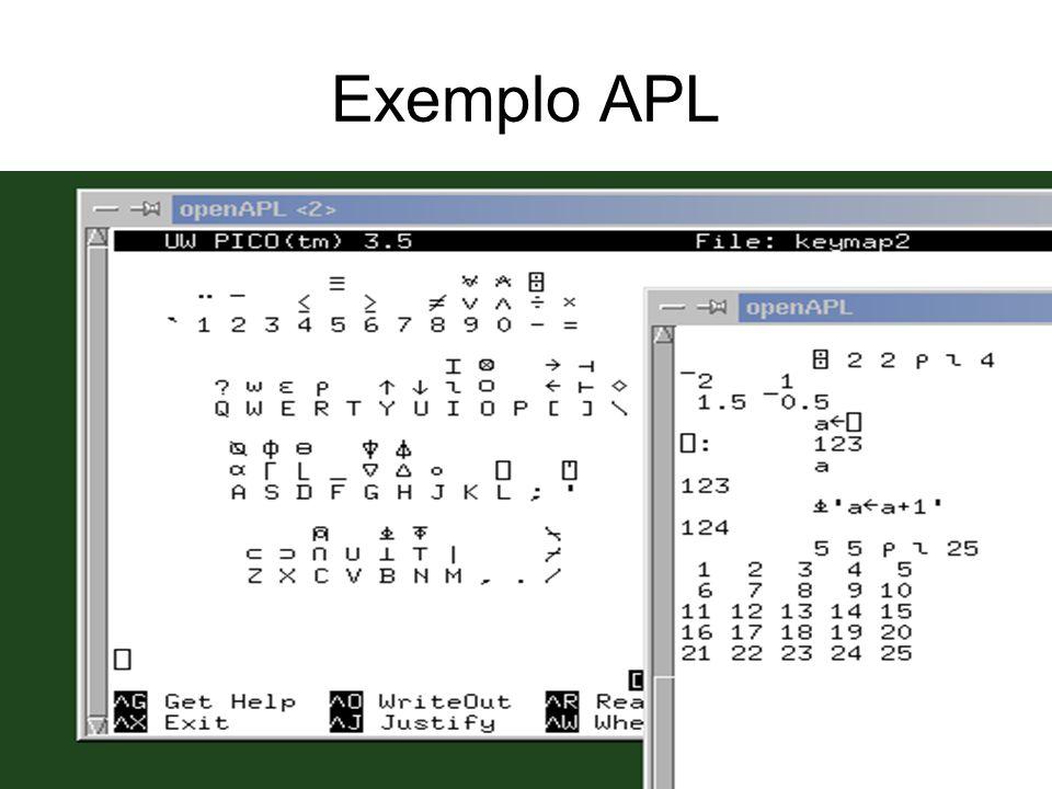 Exemplo APL