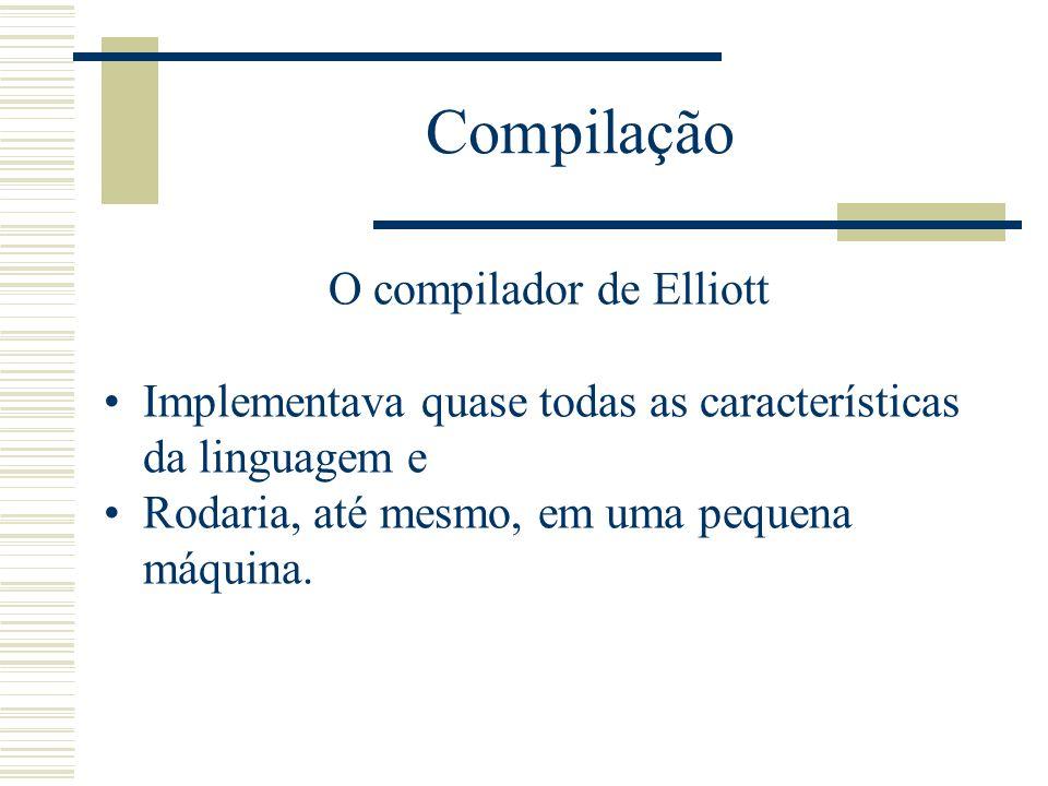 Compilação Base de clientes principal do Elliott eram as universidades, com suas aquiteturas 803.