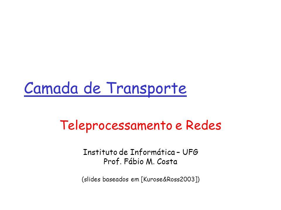 Camada de Transporte Teleprocessamento e Redes Instituto de Informática – UFG Prof.