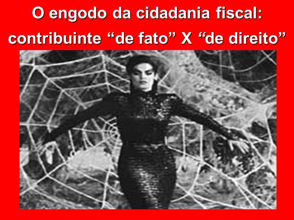 © Eurico Marcos Diniz de Santi O engodo da cidadania fiscal: contribuinte de fato X de direito