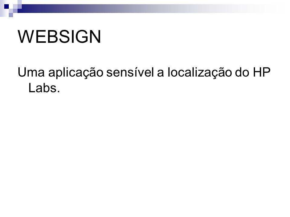 WEBSIGN Uma aplicação sensível a localização do HP Labs.