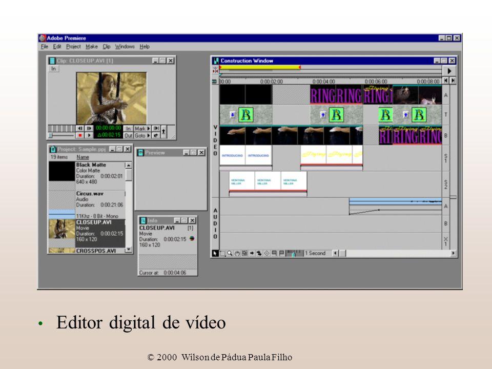 © 2000 Wilson de Pádua Paula Filho Sistemas digitais de vídeo Editor digital de vídeo