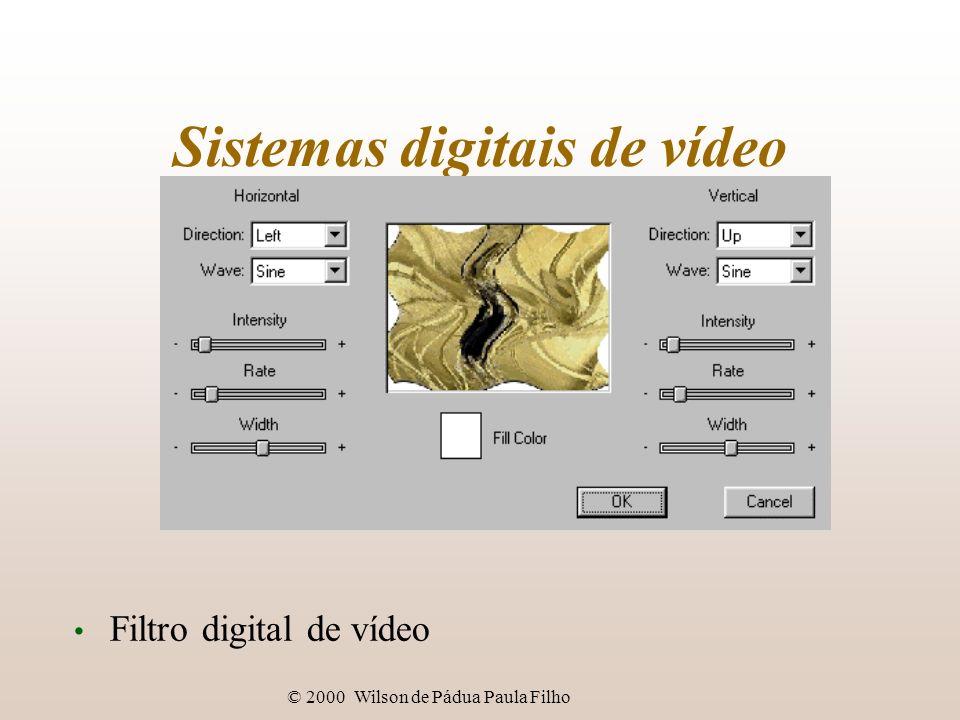 © 2000 Wilson de Pádua Paula Filho Sistemas digitais de vídeo Filtro digital de vídeo