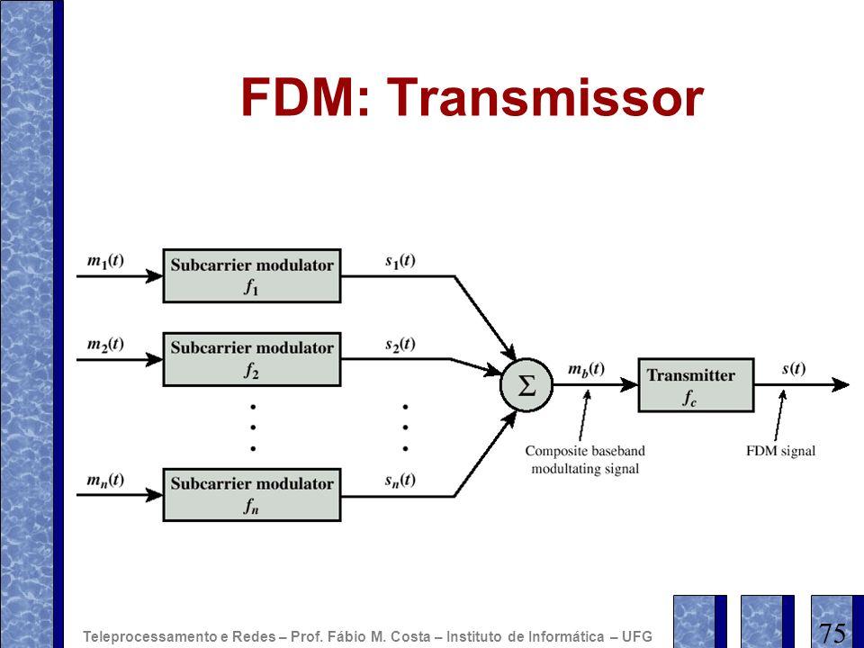FDM: Transmissor 75 Teleprocessamento e Redes – Prof. Fábio M. Costa – Instituto de Informática – UFG