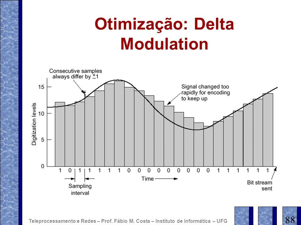 Otimização: Delta Modulation 88 Teleprocessamento e Redes – Prof. Fábio M. Costa – Instituto de Informática – UFG