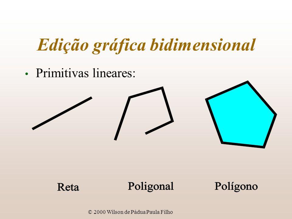 © 2000 Wilson de Pádua Paula Filho Edição gráfica bidimensional Primitivas lineares: