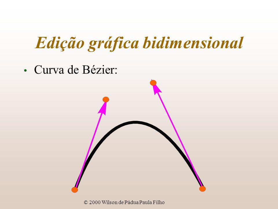 © 2000 Wilson de Pádua Paula Filho Edição gráfica bidimensional Curva de Bézier: