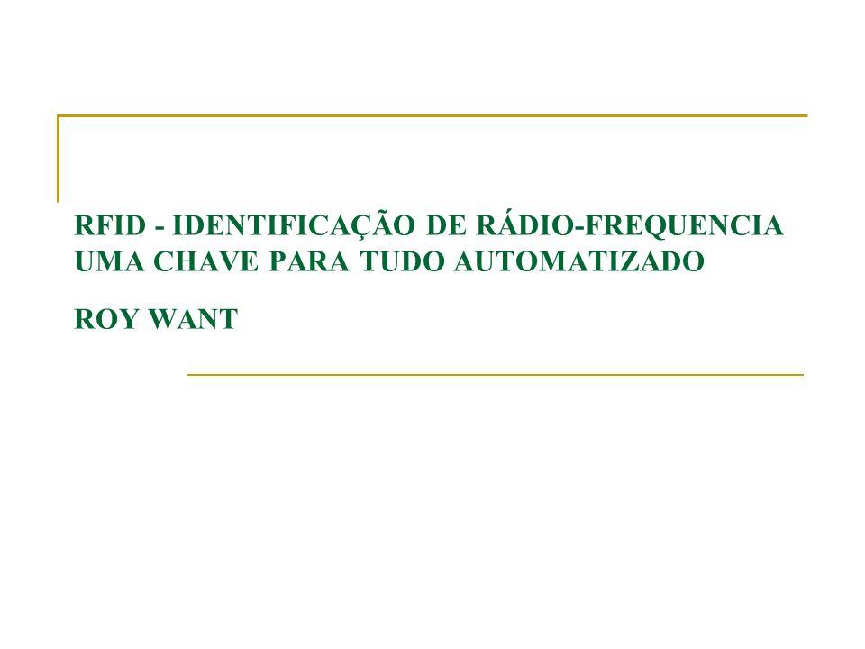 Estrutura do artigo Seções Introdução Por dentro do RFID RFID agora A cerca do futuro Sobre o horizonte O ambiente Suscetível Quadros explicativos Overview tecnologia RFID Como RFID trabalha Lidando com o lado mais escuro Exemplo