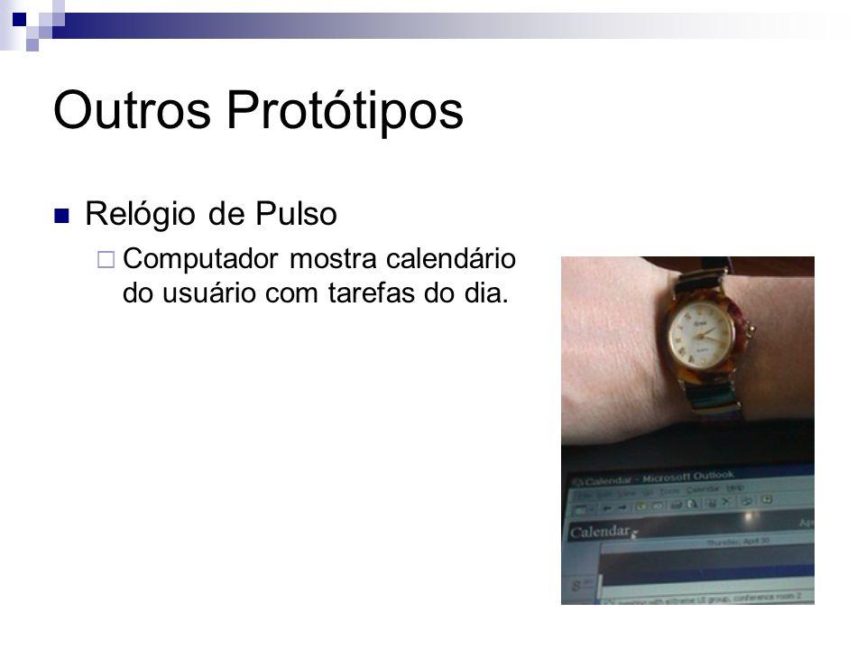 Outros Protótipos Relógio de Pulso Computador mostra calendário do usuário com tarefas do dia.