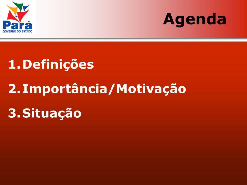 1.Definições 2.Importância/Motivação 3.Situação Agenda