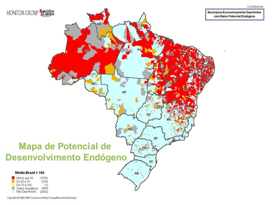 Mapa de Potencial de Desenvolvimento Endógeno