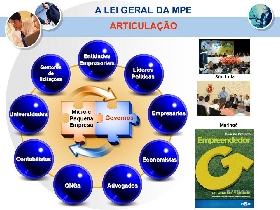 ONGs Contabilistas Universidades Gestores de licitações LíderesPolíticas Empresários Economistas Advogados Entidades Empresariais Micro e Pequena Empr