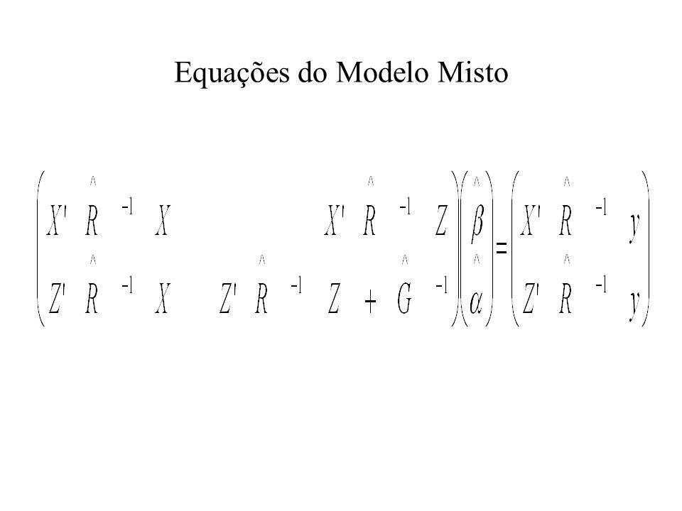 Equações do Modelo Misto