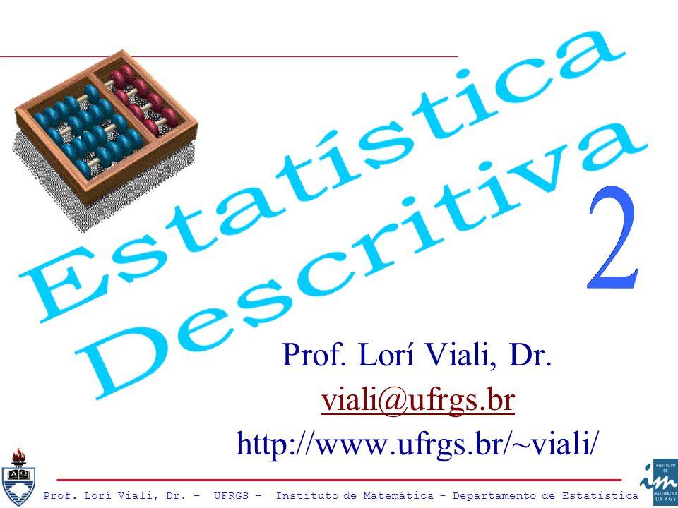 Prof. Lorí Viali, Dr. – UFRGS – Instituto de Matemática - Departamento de Estatística Prof. Lorí Viali, Dr. viali@ufrgs.br http://www.ufrgs.br/~viali/