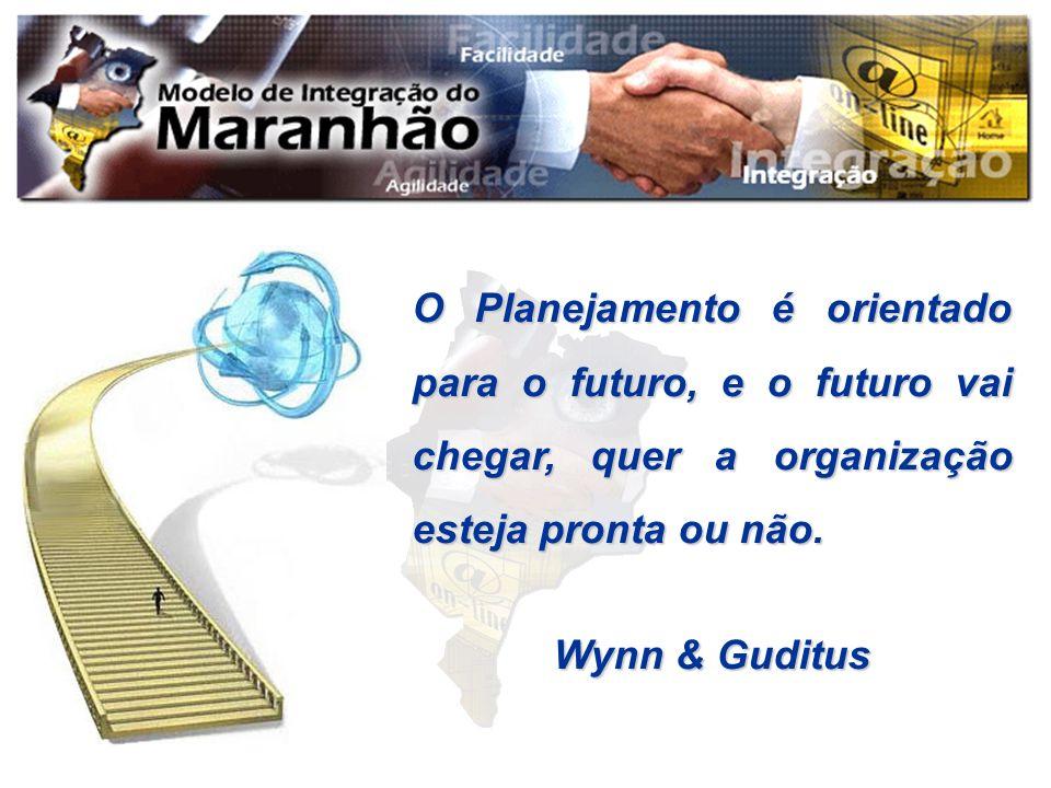 O Planejamento é orientado para o futuro, e o futuro vai chegar, quer a organização esteja pronta ou não.