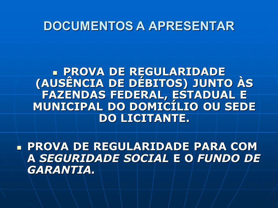 CONSEQÜÊNCIAS NECESSIDADE DA OBTENÇÃO PERIÓDICA DE CERTIDÕES, EM FUNÇÃO DA FALTA DE UNIFORMIDADE NA MANUTENÇÃO DE REGISTROS CADASTRAIS JUNTO AOS ÓRGÃOS LICITADORES (ART.