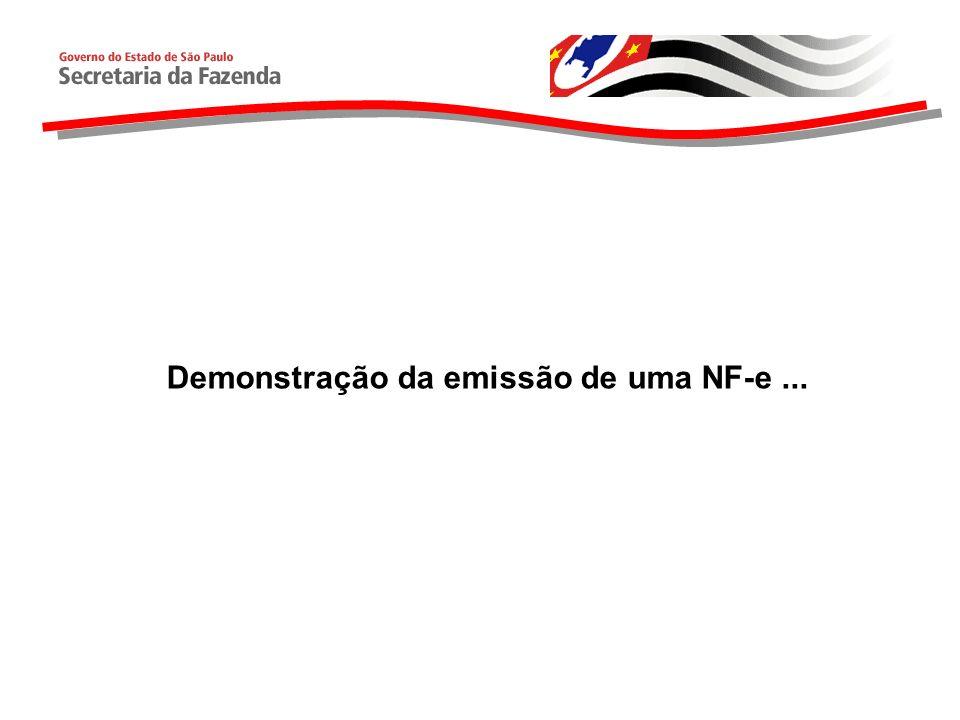 Demonstração da emissão de uma NF-e...