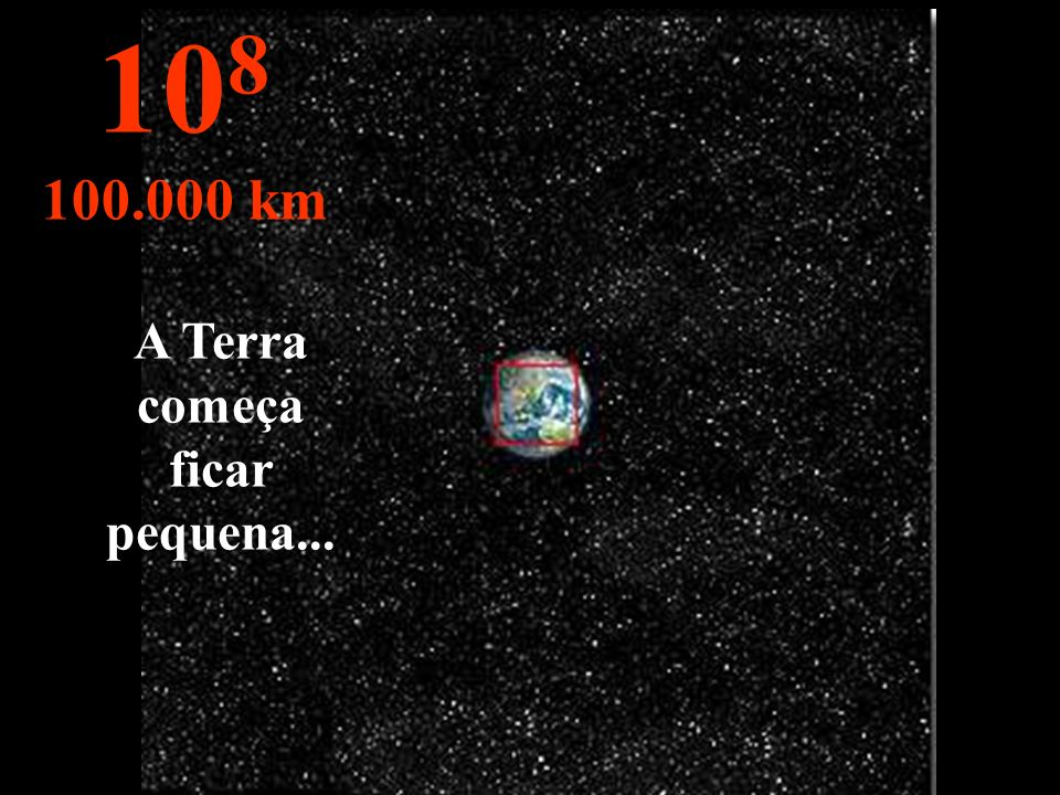 O Hemisfério Norte da Terra, podendo-se ver parte do Hemisfério Sul. 10 7 10.000 km