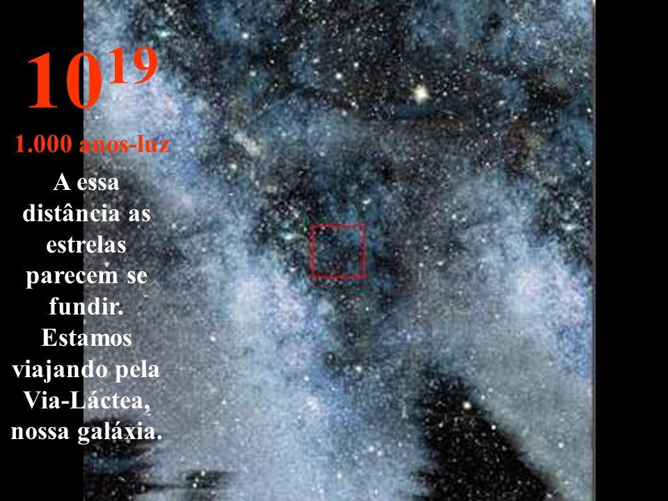 Nada além de estrelas e nebulosas 10 18 100 anos-luz