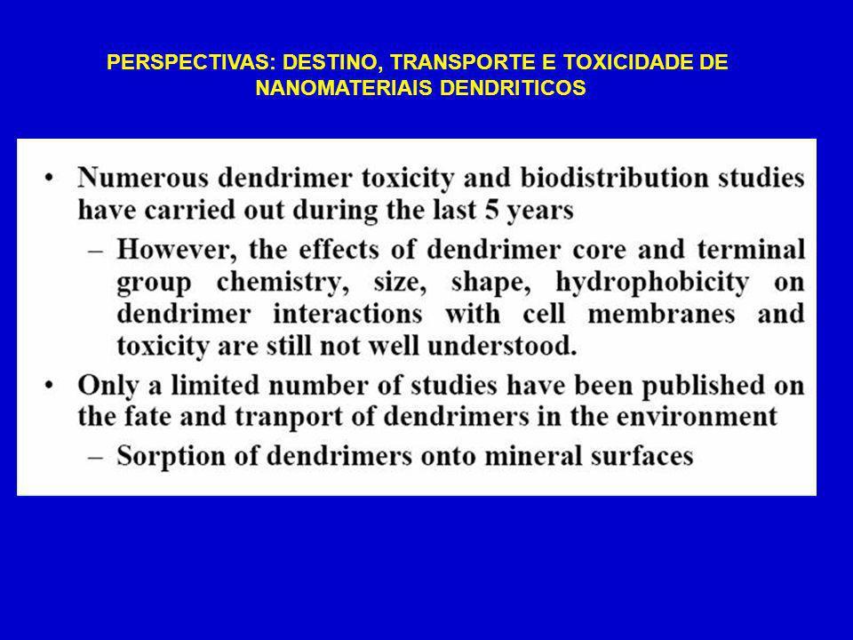 PERSPECTIVAS: DESTINO, TRANSPORTE E TOXICIDADE DE NANOMATERIAIS DENDRITICOS