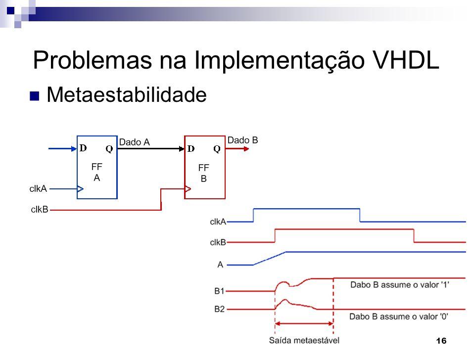 Metaestabilidade Problemas na Implementação VHDL 16