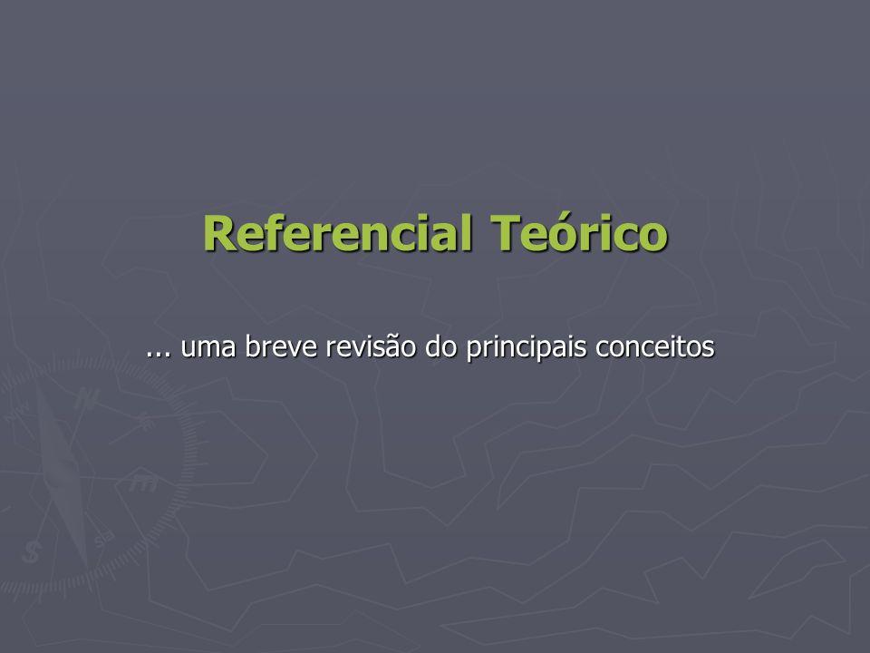 Referencial Teórico... uma breve revisão do principais conceitos