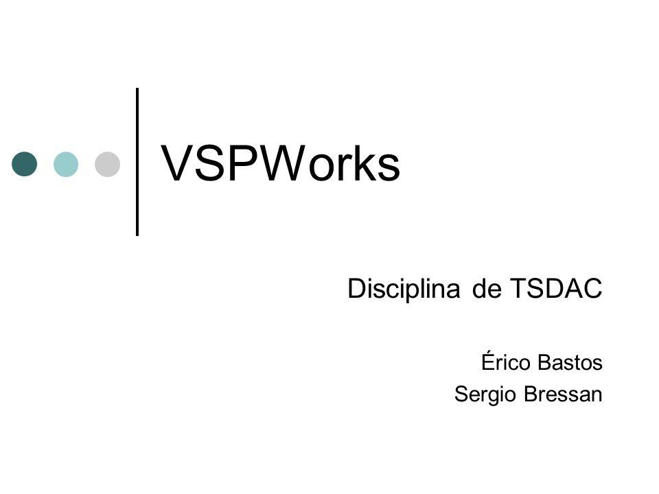 VSPWorks Disciplina de TSDAC Érico Bastos Sergio Bressan