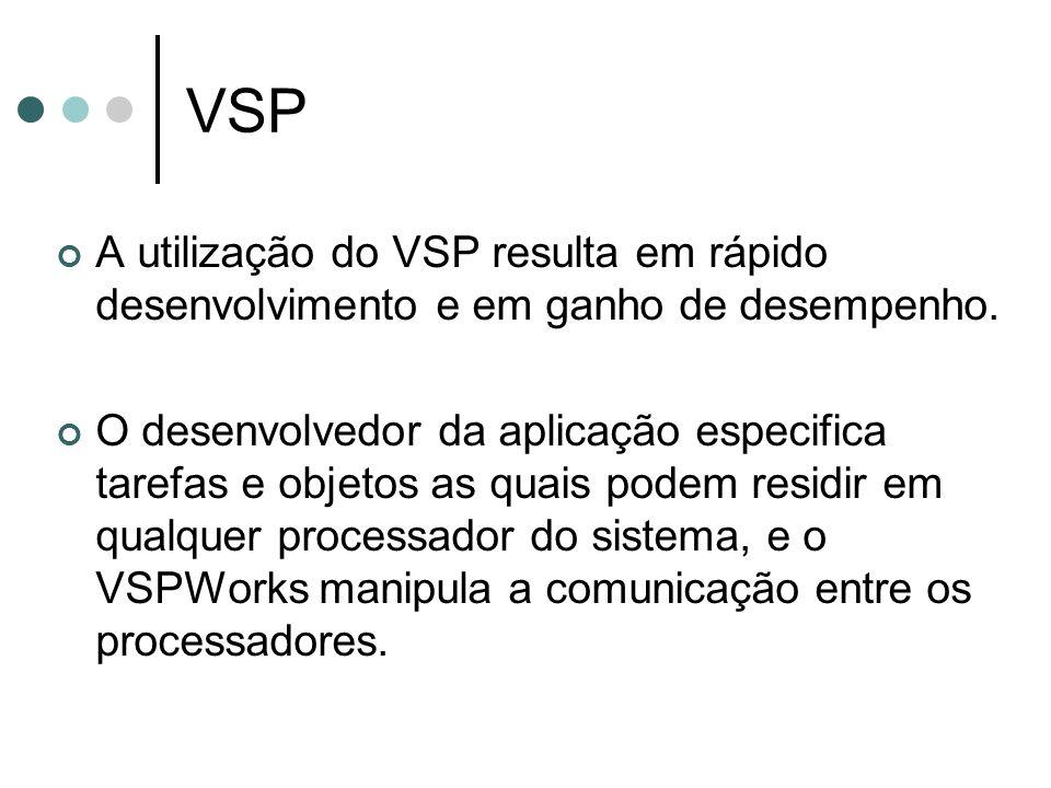 VSP A utilização do VSP resulta em rápido desenvolvimento e em ganho de desempenho. O desenvolvedor da aplicação especifica tarefas e objetos as quais