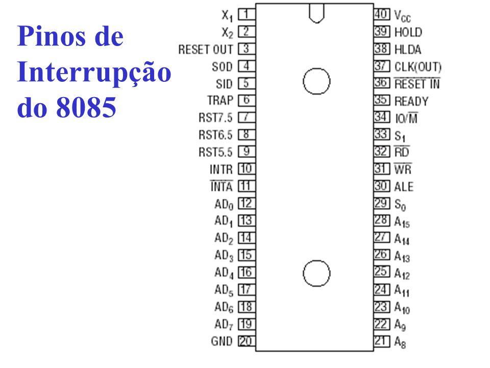 Pinos de Interrupção do 8085