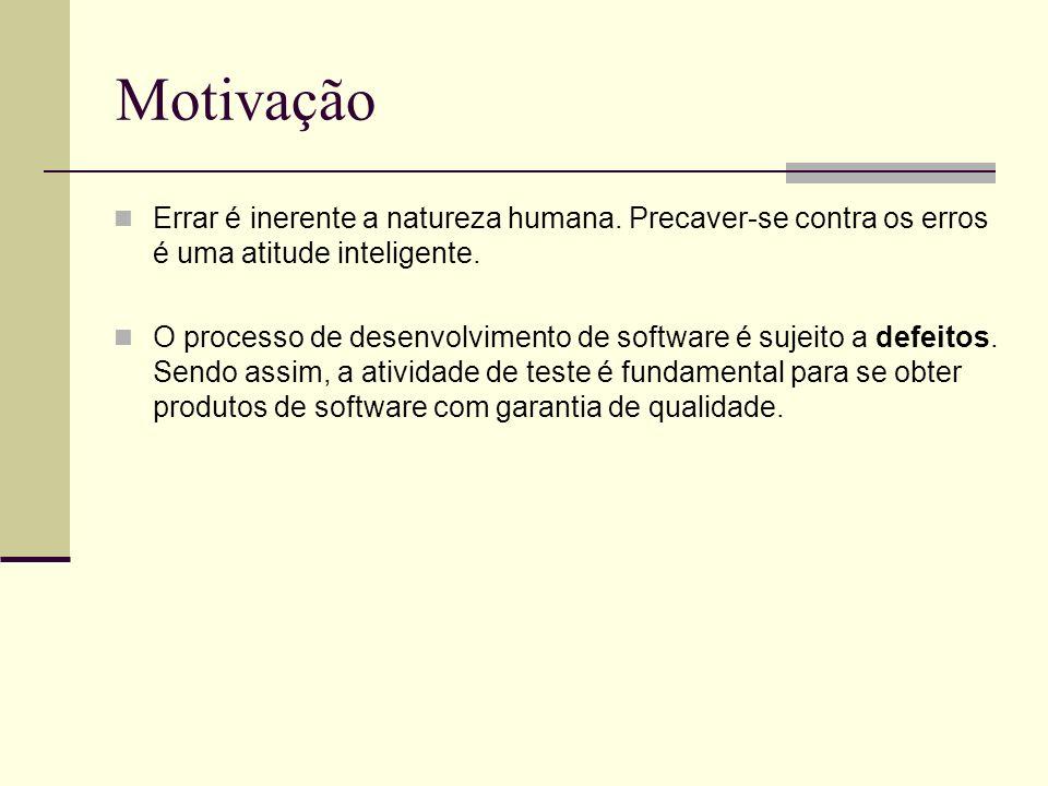 13/4/2005Seminário da disciplina de PPD – PPGCC - PUCRS Motivação Errar é inerente a natureza humana. Precaver-se contra os erros é uma atitude inteli