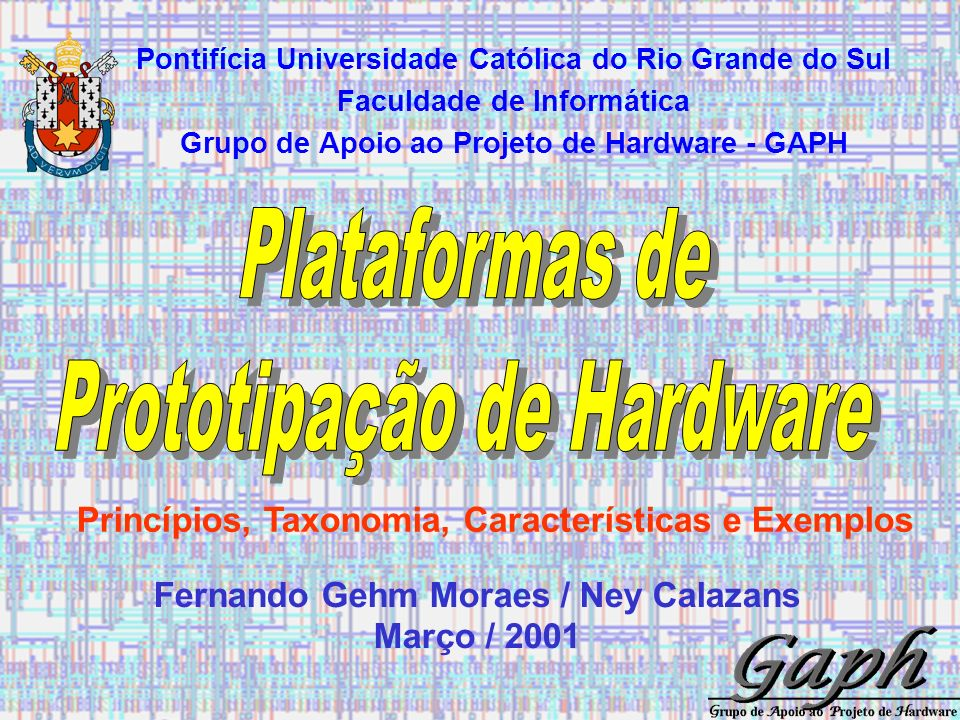 71/85 PLATAFORMAS DE PROTOTIPAÇÃO Fernando Gehm Moraes / Ney Calazans Envio dos resultados ao DSP 8 M1 8 M2 32 BUSREC A1 ck_int start state TODSP crdyin cstrbout reset E FRE PEE 8 FROMDSP cstrbin crdyout reset R FR 8 32 BUSEMI 24 0 8 IOR D Q ck D Q ck D Q ck FR 8 [7,0] 8 [15,8] 8 [23,16] 8 8 busrec2 st1 ecr P DATA_OUT CE RW ADDRESS_C reset ck DATA_IN 8 state st0 st1 +1 st2 end_mem ADDRESS_C 8 9 0 AD 17 reset A3 FRS st2 A2 PES st2 FROM / TO DSP ck_int PEDSP R2 R3 R1 CE1_N CE2 WE_N OE_N FROM / TO MEMORY FPGA st0