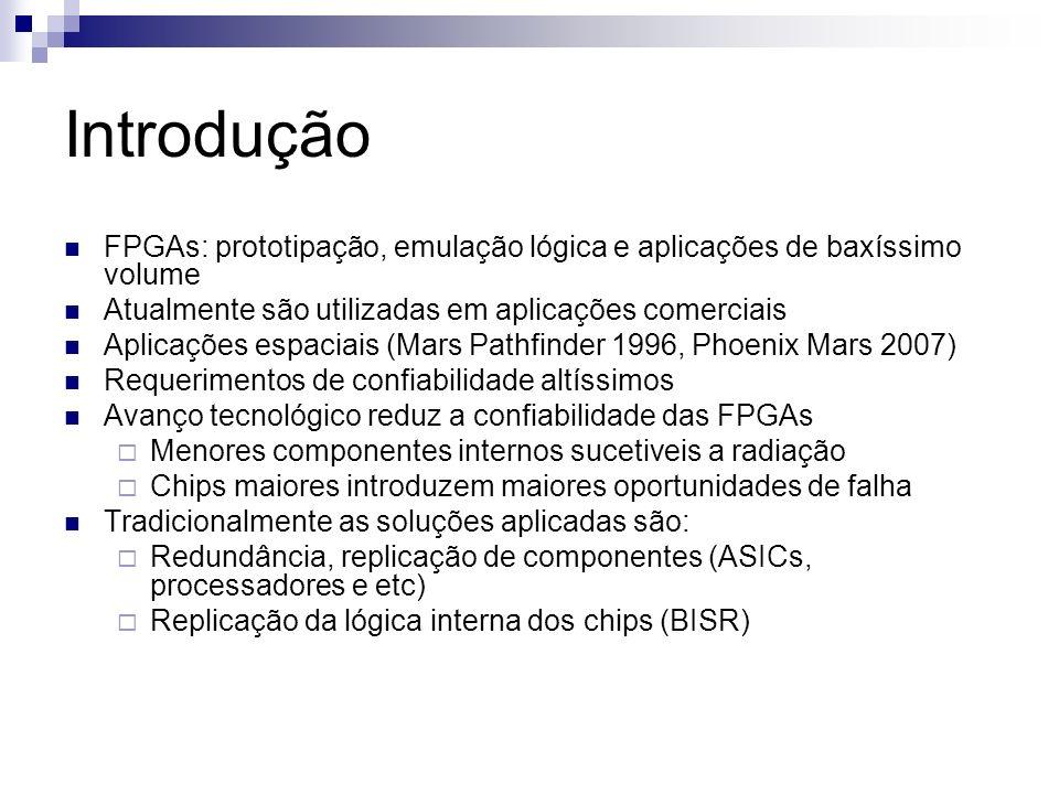 Introdução FPGAs: prototipação, emulação lógica e aplicações de baxíssimo volume Atualmente são utilizadas em aplicações comerciais Aplicações espacia