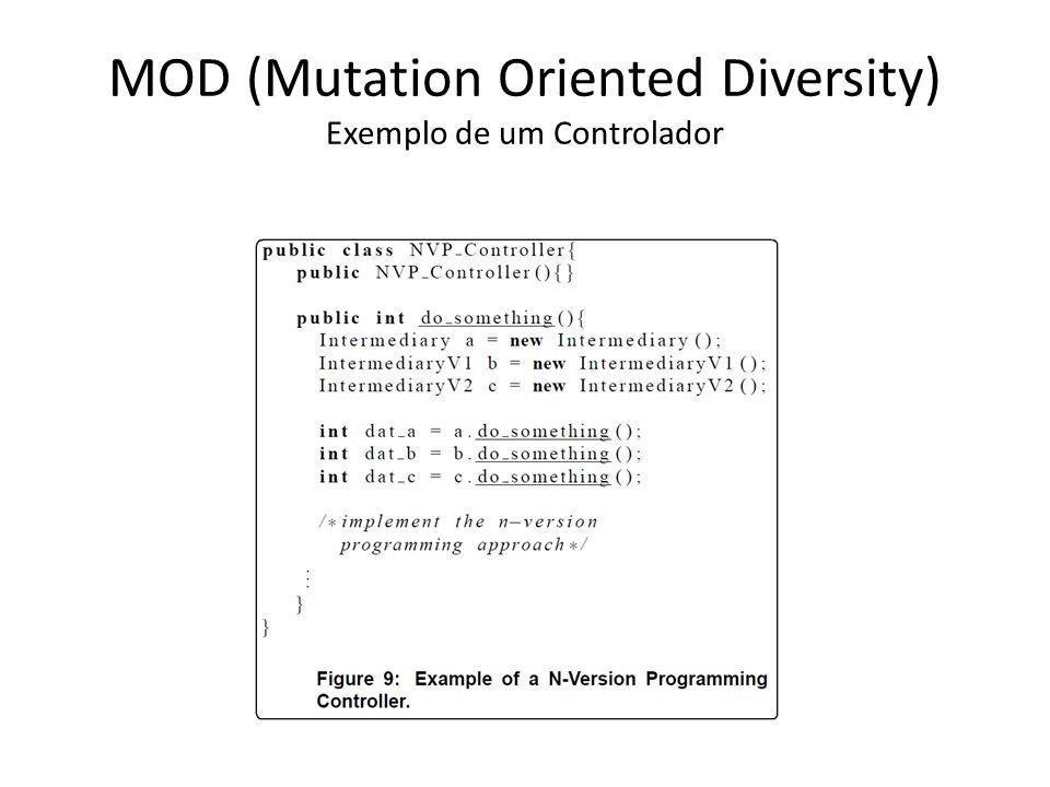 MOD (Mutation Oriented Diversity) Exemplo de um Controlador